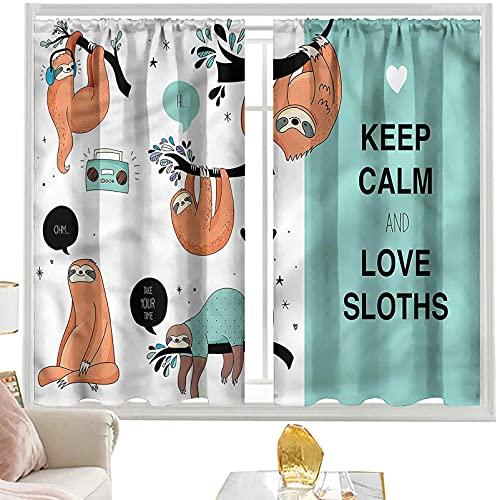 cortinas térmicas Animal,Australian Sloth Tribe W52 x L63 pulgadas cutainsforlivingroom