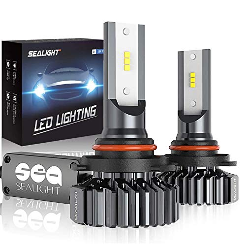 SEALIGHT 9006/HB4 LED Headlight Bulbs, 12000LM 12xCSP Chips LED Headlights Conversion Kit Low Beam/Fog light bulb 6000K White, Pack of 2