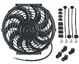 American Volt Ventilador de refrigeración de radiador eléctrico reversible de 12 V de alto rendimiento térmico mejor CFM (11 pulgadas, ventilador individual)