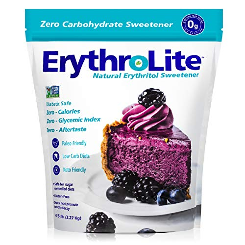 Erythrolite Erythritol Sugar Substitute - Natural and Organic Plant-Sourced Keto Friendly Sweetener (5 Pound Bag) (5 pound)
