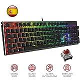Teclado Mecánico Gaming Optical Axis Switches Red ACGAM AG-109R 105 Teclas y Optical Axis Switches Red, Anti-Ghosting RGB Retroiluminado Mechanical Keyboard con Disposición Española(Tiene ñ)
