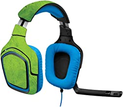 MightySkins Skin Compatible with Logitech G430 Gaming Headset - Green Cement   Protective, Durable, and Unique Vinyl Decal wrap Cover   Easy to Apply, Remove, and Change Styles   Made in The USA