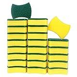 ESAFIO Estropajo Mágico, Esponjas de Limpieza, Doble Cara para Eliminar Las Manchas,Esponjas de Limpieza Multiusos para Baños y Cocinas… (24, Plástico)
