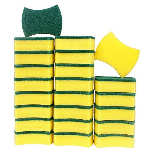 esafio 24pcs Estropajo Mágicas, Esponjas de Limpieza, Doble Cara para Eliminar Las Manchas,Esponjas de Limpieza Multiusos para Baños y Cocinas
