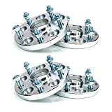 Squirrelly Hubcentric Aluminum Hub-Centric Wheel Spacers Adapters 5x100 / 12x1.25/56.1mm Center Bore 15mm Thick Pack of 4