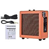 ZXCV Mini ampli Guitare Basse Ukulele Amp Haut-Parleur alimenté par Batterie (Envoyer Un Cadeau Surprise),Orange