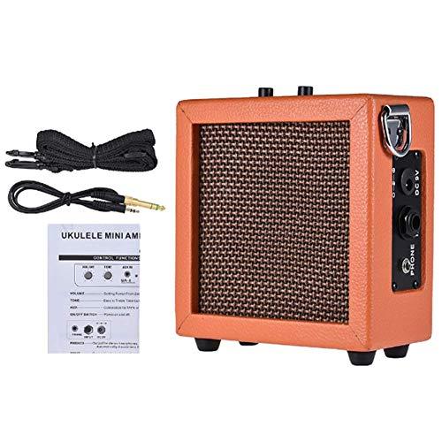 ZXCV Desarrollado Mini Amplificador de Guitarra Bass Amp Ukulele Altavoz de la batería (Enviar un Regalo Sorpresa)