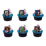 Monster High Ghoulfriends Cupcake Rings - 24 Pack