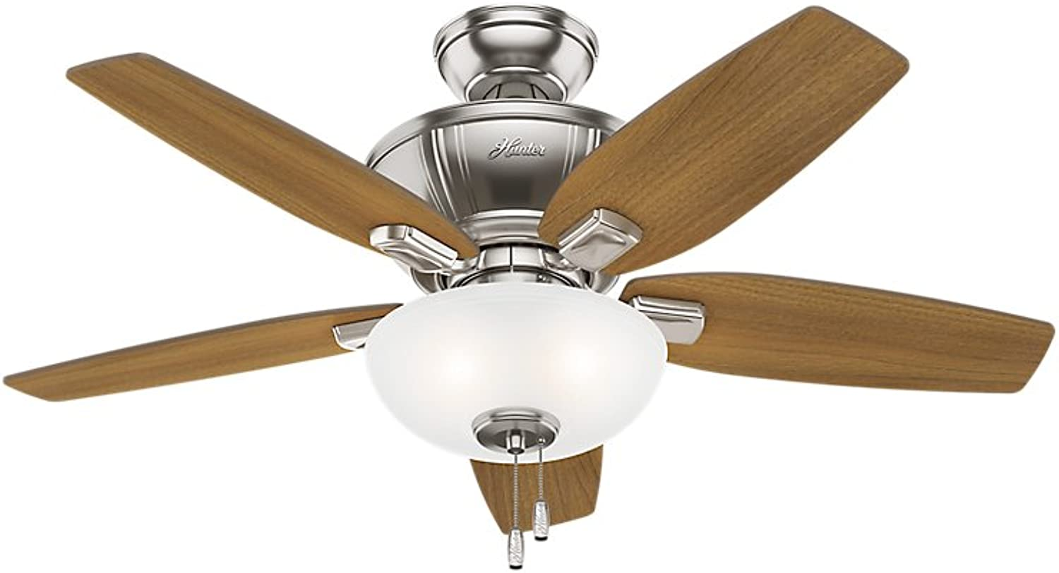Hunter 51102 Kenbridge 42  Ceiling Fan with Light, Small, Brushed Nickel