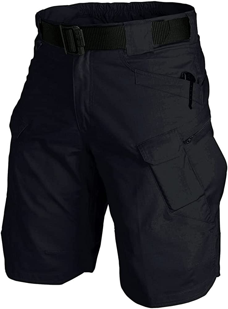 Tactical Workout Shorts for Men Outdoor Casual Quick Dry Hiking Cargo Shorts with Multi Pockets 28-46 (No Belt)