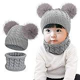Tuopuda Sombrero para Niños Y Niñas Bufanda Conjunto Slouchy Invierno Grueso...