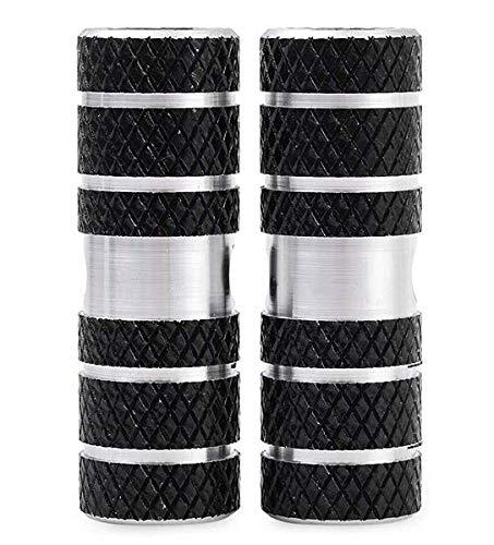 NUMAMA 2 Pieces Bike Foot Pegs Aluminum Alloy Anti-slip Stunt Pegs Rear Feet Pedals - Black