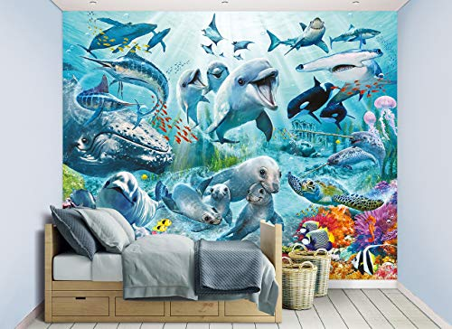 WALLTASTIC Wallpaper Mural, FSC Mix Papier, Multi, 8ft H x 10 ft W, One Size
