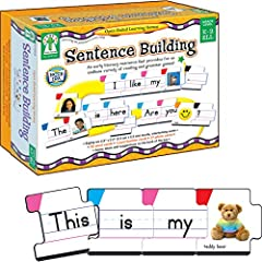 Parents and teachers tailor activities to different learning levels Hands on learning resource covers parts of speech, capital letters, punctuation, and building sentences language skills Includes grammatically color-coded interlocking cards (55 word...