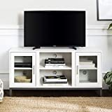 Walker Edison Modern TV Stand with Storage Cabinets for TV's up to 56' Living Room Storage