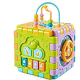 Arkmiido Activity Cube Center for Kids Educational Toys with Musical Piano, Bead Maze
