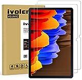 iVoler 2 Stück Panzerglas Schutzfolie für Samsung Galaxy Tab S7 FE 5G & Galaxy Tab S7 Plus 12.4 Zoll, 9H Festigkeit Panzerglasfolie, Anti-Kratzen Folie, Anti-Bläschen Bildschirmschutzfolie, Hülle fre&lich