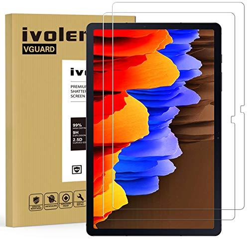 iVoler 2 Pezzi Pellicola Vetro Temperato per Samsung Galaxy Tab S7+ / S7 Plus 12.4 Pollici (T970 / T976B), Pellicola Protettiva Protezione per Schermo per Samsung Galaxy Tab S7 Plus