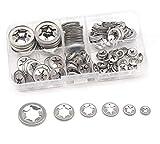 150Pcs 304 Stainless Steel Star Lock Internal Tooth Locking Washers Assortment Kit, M3/ M4...