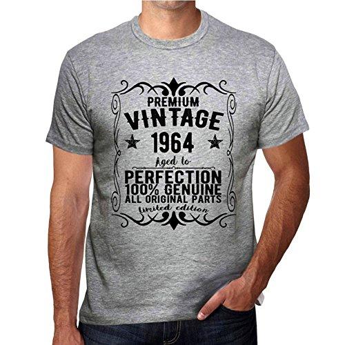 1964 camiseta gris hombre vintage camisetas hombre camiseta regalo