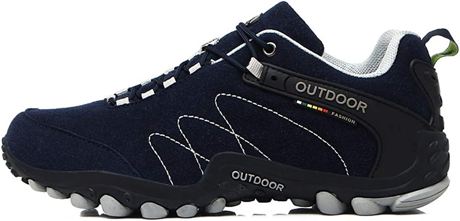 FFSH Hiking shoes Breathable tie Hiking shoes Non-Slip Shock Absorbing shoes men-Royalbluee-40