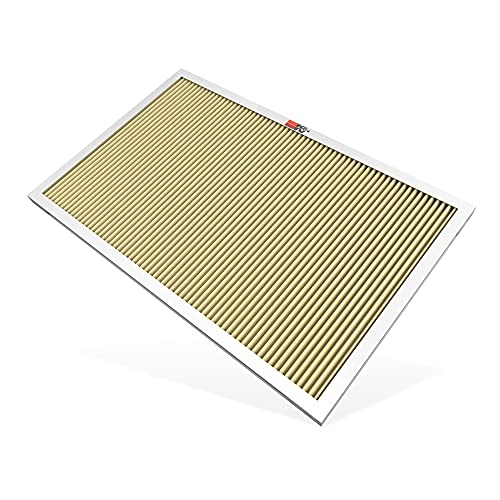 K&N 16x25x1 HVAC Furnace Air Filter, Lasts a Lifetime, Washable, Merv 11, the Last HVAC Filter You Will Ever Buy, Breathe Safely at Home or in the Office (Actual Dimensions.8 x 24.6 x 15.6 inches)