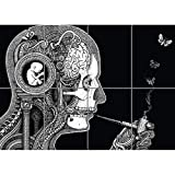 Doppelganger33 LTD Psychodelic Weird Wand Kunst Multi Panel