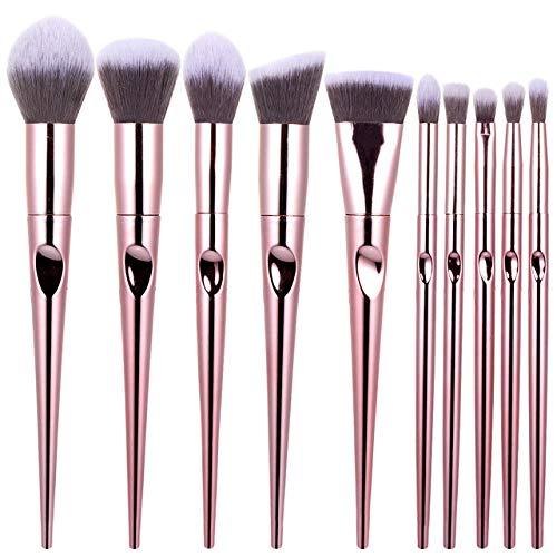 WOMGD® 10 ensembles de pinceaux de maquillage, Brush Cosmetics Foundation Correcteurs Poudre Blush Blending Face, Eyeliner Foundation Blushs Outil de maquillage coloré
