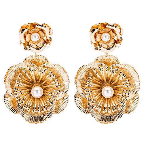 Exquisita producción de aleación, elegante forma de flor de hierro, estilo de...