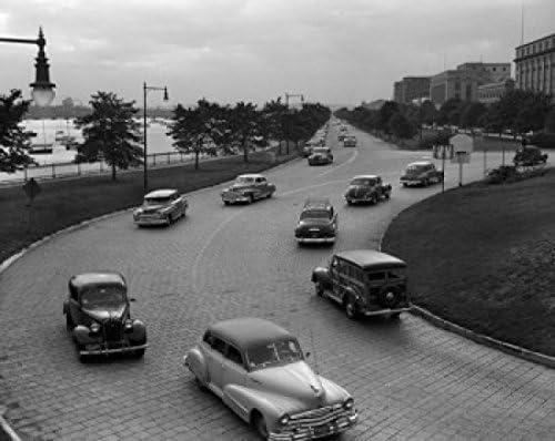 Posterazzi USA Import Massachusetts Boston Outstanding near Traffic Brid Longfellow
