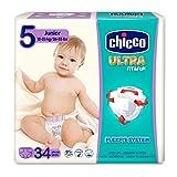 Chicco Chicco Ultra Fit&Fun – Confezione da 34 pannolini ultra assorbenti, taglia 5, 12-25 kg (Junior) 34 pz – Pannolini Maxi 12-25 kg 34 pz