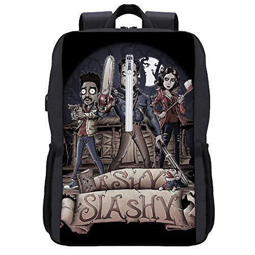 Ashy Slashy Ash Vs Evil Dead Mochila para portátil con puerto de carga USB