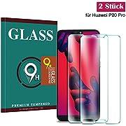 Panzerglas Schutzfolie für Huawei P20 Pro, Guanzer Hochwertiger 2.5D temperierter Film [2 Stück] [9H Härtegrad] [Ultra Klar] [Anti-Fingerabdruck] [Anti Kratzen] [Bubble-frei] Displayschutzfolie Panzerglasfolie für Huawei P20 Pro
