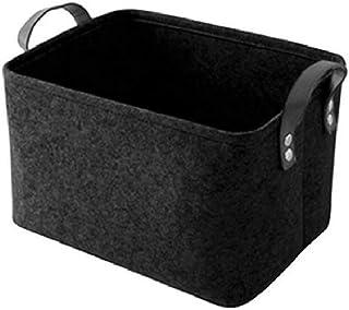 Hoomall Boîte de Rangement avec Poignées Panier de Rangement Tissu Caisse de Rangement Ouvertes pour Jouets, Vêtements, Bi...