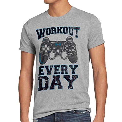 style3 Gamer Workout Herren T-Shirt Play...