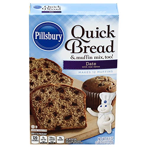 Pillsbury Date Quick Bread & Muffin Mix, 16.6-Ounce (Pack of 12)
