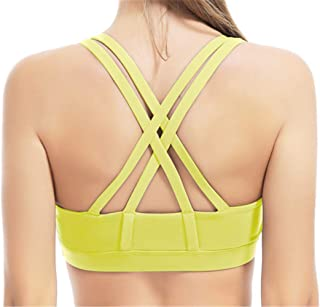Morbuy Women's Sports Vest Bra Padded High Impact Racer Back Yoga Workout Tank Tops