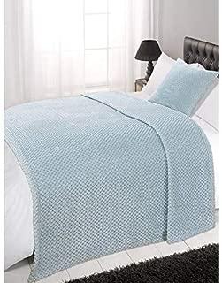 Dreamscene Luxury Waffle Mink Soft Warm Twin Size Throw Sofa Bed Blanket - 60