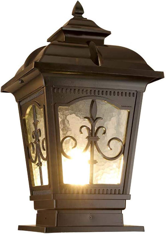 Zhang Yan ZYY Sulenlicht Groe Auen E27 Licht Lampe Post Licht Tor Licht Dekoration Straenlaterne Rasen Villa Lampe wasserdichte Outdoor Gartenlampe (Gre  Hhe 35 cm)