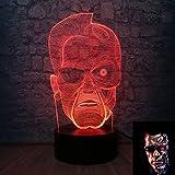 Terminator night Light Movie figure lámpara Kids room night Light Tough Man, modo 3D LED, lámpara de pantalla LED