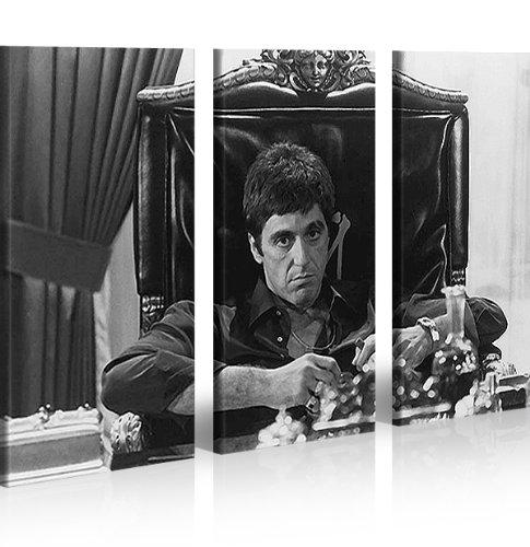islandburner Bild Bilder auf Leinwand Al Pacino Scarface XXL Poster Leinwandbild Wandbild Dekoartikel Wohnzimmer Marke islandburner