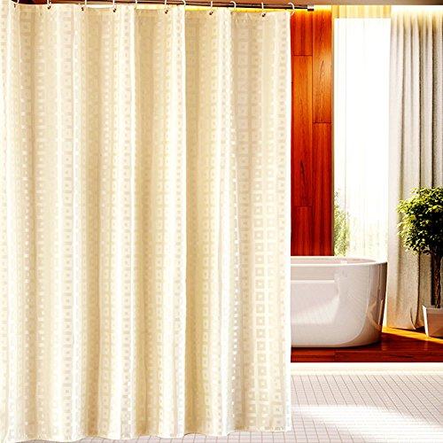 Z-one Wasserdichte Polyester duschvorhang mit Haken dick schimmel & mehltau resistente Badezimmer tür-Fenster-vorhänge -beige 200cm(H) x300cm(W)