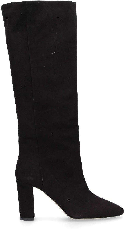 DI LUNA Women's C2511CAM Black Suede Boots