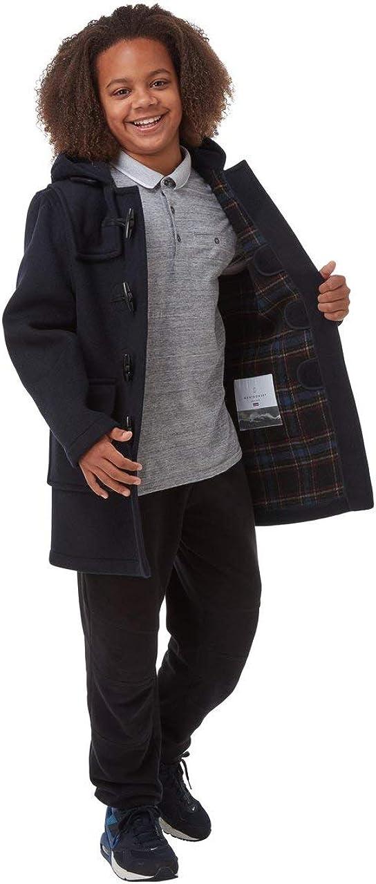 Kids Classic Duffle Coat (Toggle Coat) (4-6, Navy)