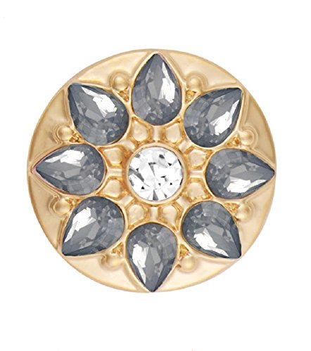 Ginger Snaps Gold Marbella Frosty Greys SN15-71 (Standard Size) Interchangeable Jewelry Accessories