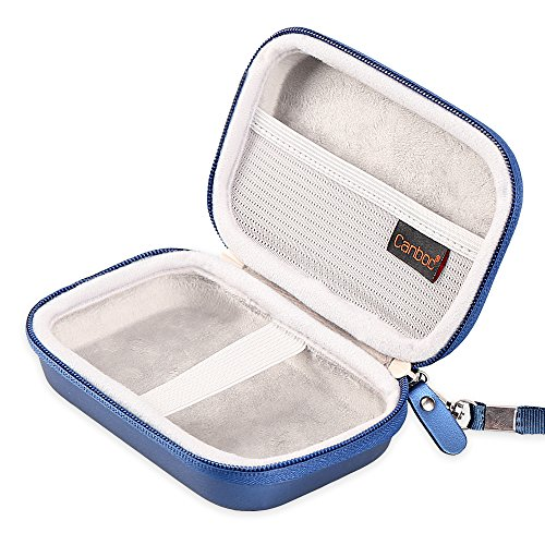 Canboc Carrying Case for HP Sprocket Portable Photo Printer and (2nd Edition), Polaroid Zip Mobile Printer, Lifeprint 2x3 Photo and Video Printer, Mesh Pocket fit Photo Paper and Cable, Blue