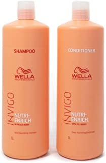 Wella Invigo Nutri Enrich Duo Pack. Deep Nourishing Shampoo 1L and Deep Nourishing Conditioner 1L