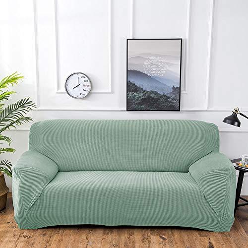 Funda de sofá elástica para sofá de 4 plazas, color verde