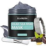 Natürliche Schlammmaske aus dem Toten Meer - Gesichtsmasken Körperreinigung Entspannende Detox-Behandlung Reduzieren Sie die Poren Reinigende Gesichtsmaske für Akne Mitesser Fettige Haut mit