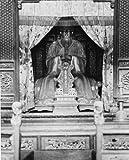 1931 photo The image of Confucius . Statue of Confucius in temple erected on e1